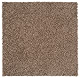 Nance Industries Peel and Stick Soft Residential Carpet Tile with Padding, 24''X24'', Light Brown, 8 Tiles