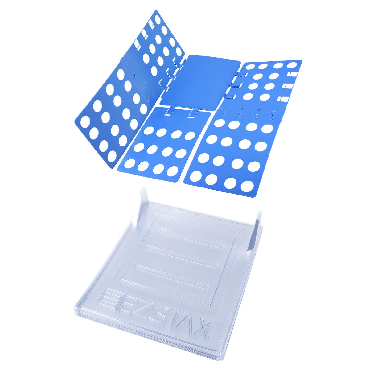 LegendTech Tabla Plegable de Ropa Y Herramienta de Almacenamiento de Ropa Grupos Contiene 1 Azul Ajustable Plegable y 10 Closet Sistema de Organización de Ropa Usos Múltiples para Pantalones Camiseta Suéter Plegado Rápido Organización Prolija