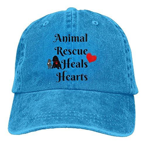 Richard Animal Rescue Adult Cotton Washed Denim Travel Hat Adjustable - Shopping Centres Orlando