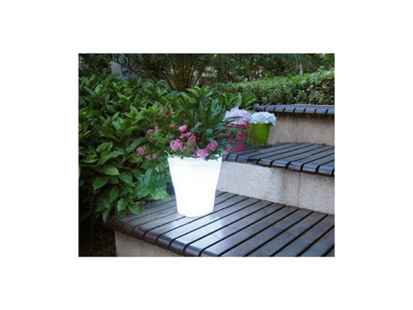 Solar Illuminated PlanterSolar LED Flowerpot Light LED Solar Power Flowerpot Garden Landscape Outdoor Yard - PINK OR WHITE