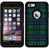 Plaid Green design on Black OtterBox Defender Series Case for iPhone 6 Plus and iPhone 6s Plus