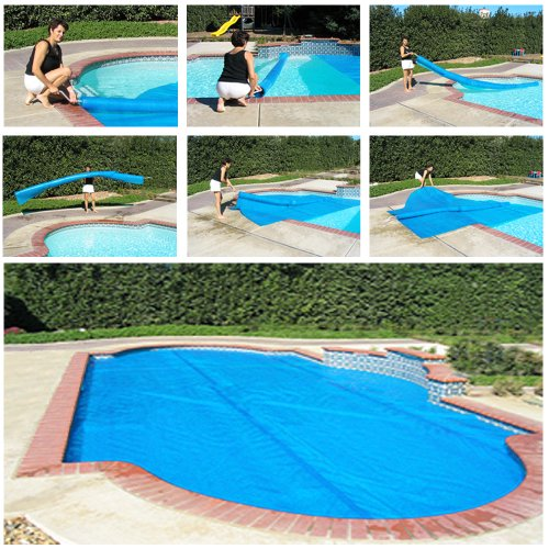 Solar Roller ® EXTENDS COVER LIFE - Pays for Itself - Rolls Covers in Sections, Like Pieces of a Puzzle, Nothing on Deck! (Inground Pool Accessories)