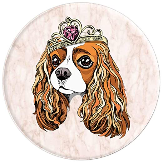 Amazon.com: Cavalier King Charles Spaniel rosa mármol perro ...
