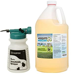 Mosquito Magician Hose Sprayer with 1 Gallon Natural Mosquito Killer & Repellent Concentrate