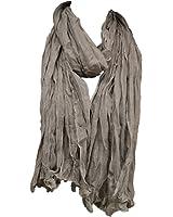 Krinkle loop offen Schal Knitter Halstuch Unifarbe 70 x 180 Frühling Sommer Herbst in verschiedenen Farben
