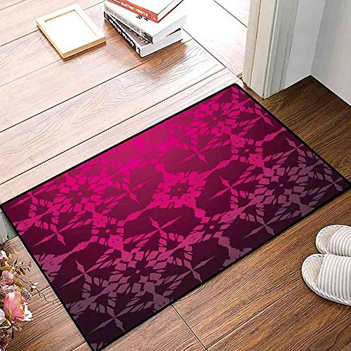 Rugs Magenta,Victorian Stylized Classical Bound Ornamental Mosaic Patterns in Nostalgic Design,Rosewood Floor Cushion 32