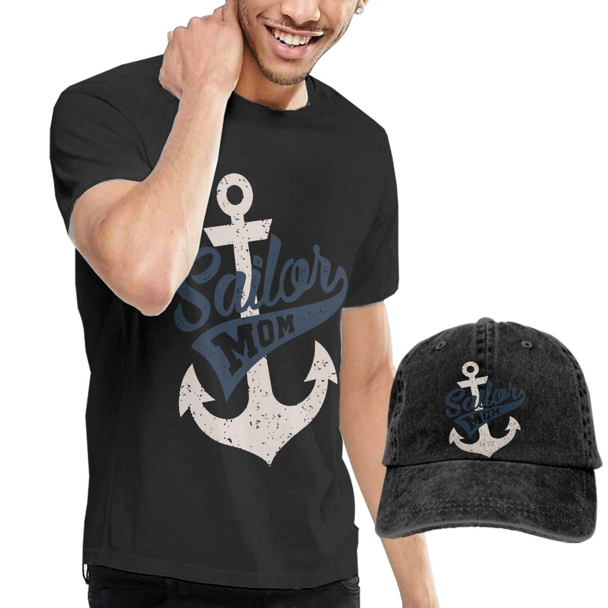 WWTBBJ-B Sailor Mom Adult Mens Summertime T-Shirt and Sports Jean Hat