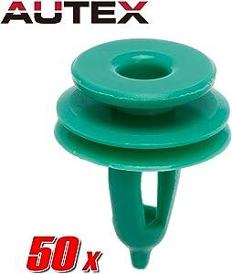 PartsSquare 50pcs Car Retainer Clips Plastic Fasteners Kit Nylon Bumper Fender Liner Fastener Push Pin Rivets Retainer Clips 06505539AA Auto Body Retainer
