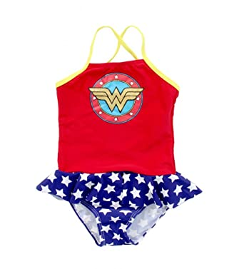 6faf66a55d5c6 Hello Kitty Wonder Woman Shield Skirted 1 Piece Infant Girls Bathing Suit  (24 Months)