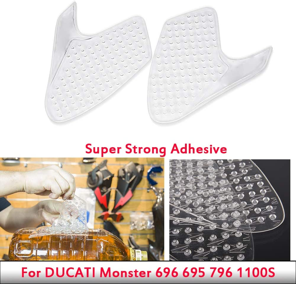 For Ducati Monster 696 695 796 1100 S Anti Slip Kraftstofftank Pad Protector Seite Gas Knie Grip Traction Pads Aufkleber Decals Monster696 695 Auto