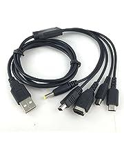 Link-e ® Cavo USB 5 in 1 caricatore per Nintendo 3DS (DSI), GBA, DS Lite, controller Wii-U e Sony PSP
