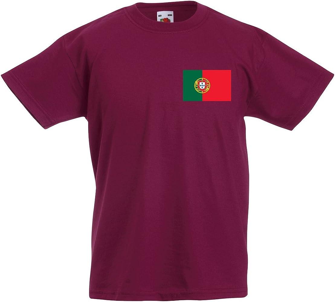 Ronaldo Portugal – Camiseta de fútbol infantil, color rot - burgunderfarben, tamaño 12 años: Amazon.es: Deportes y aire libre