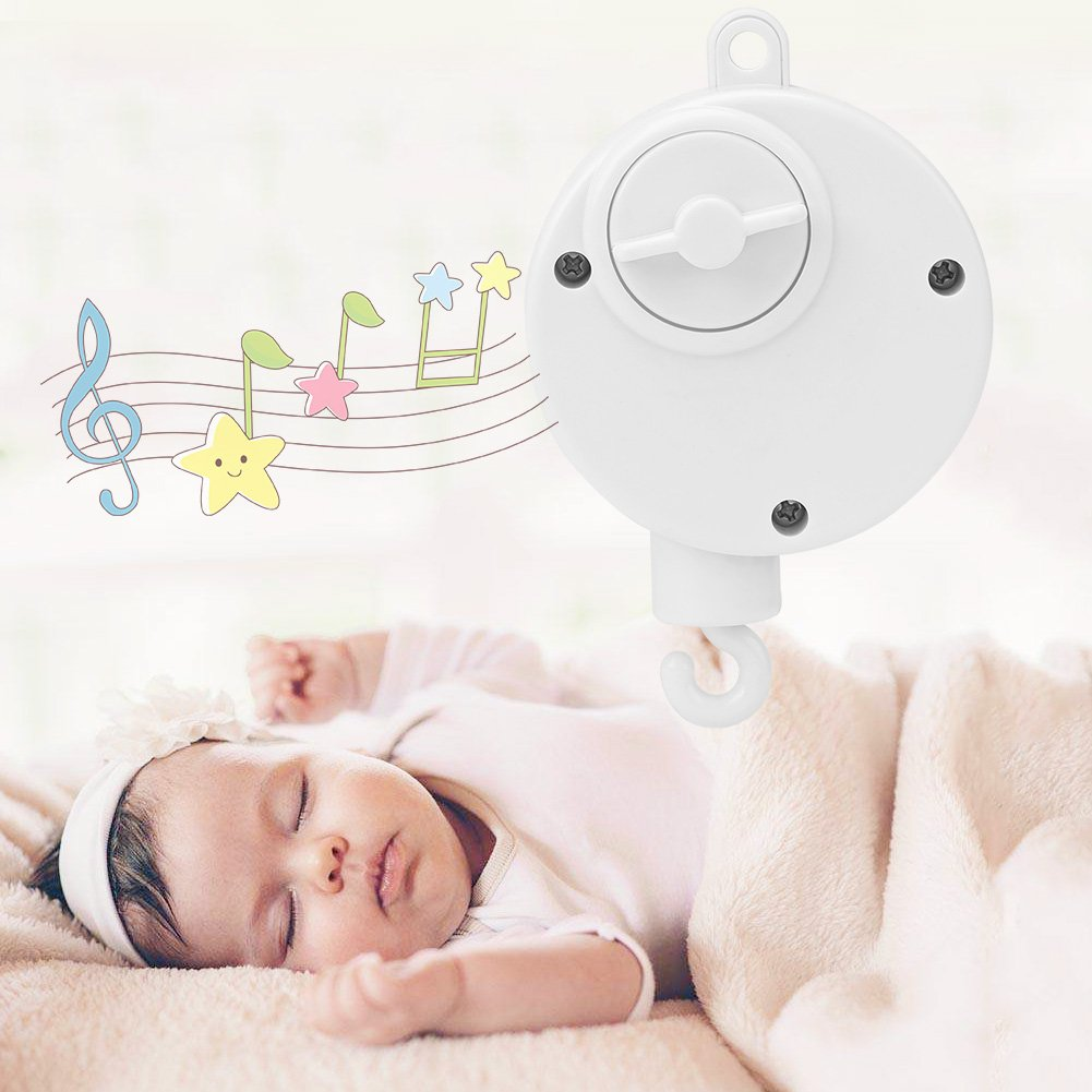 Baby Musical Crib Mobiles Toys Baby Bed Bell Toys Infant Mechanical Music Box Newborn Hanging Melody Toys for Crib Bed Bassinet Stroller Rail