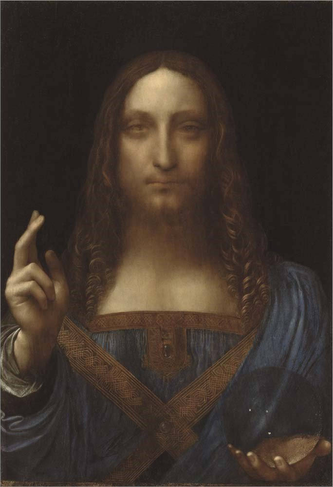 Salvator Mundi by Leonardo Da Vinci Double Sided Laminate, 8 x 10 inches