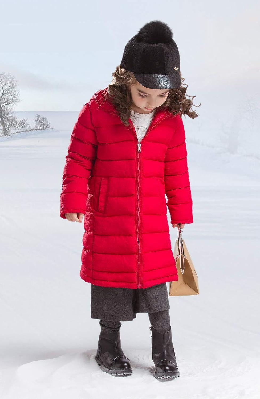 Happy Cherry Girls Warm Down Jackets Winter Snowsuit Hooded Windbreaker Outwear Hoodies for 4-12T