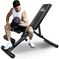 FLYBIRD Adjustable Bench,Utility Weight Bench for Full Body Workout- Multi-Purpose Foldable Incline/Decline Bench