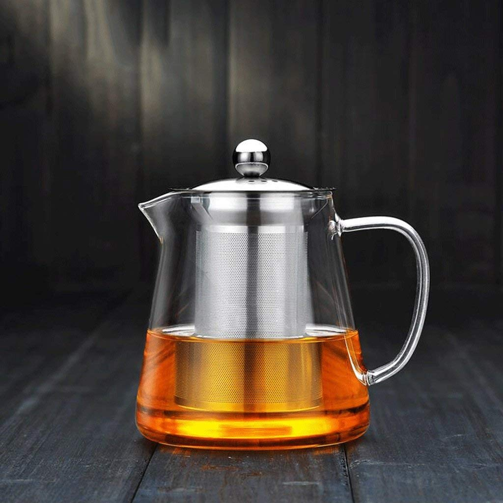 High Temperature Resistance ZS Explosion Proof Heat Resistant Glass Boiled Tea Black Tea Stainless Steel Filter Tea Household Water Bottle (Capacity : 750ml) (Size : 900ml) by Carl Artbay