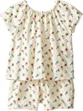 Chloe Kids Baby Girl's Flowers Embroidery Romper (Toddler) Imprime Shorts