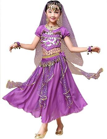 Astage Girl Belly Dance Sequin Indian Dance Costume Halloween Wear