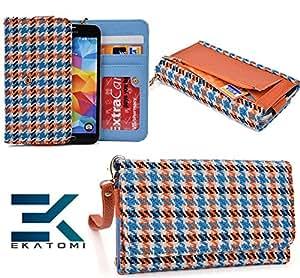 Sony ZR C5502 Clutch Wallet Cover Phone Case BABY BLUE | ORANGE *BONUS Ekatomi Screen Cleaner
