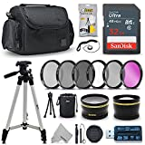 Professional 58mm Lens Accessories Bundle Kit for Canon Rebel T7 T7i T6 T6i T6s T5 T5i EOS 80D 77D 70D 60D 6D Mark II 5D Mark III DSLR Cameras, 20 Piece Accessory Kit for Canon