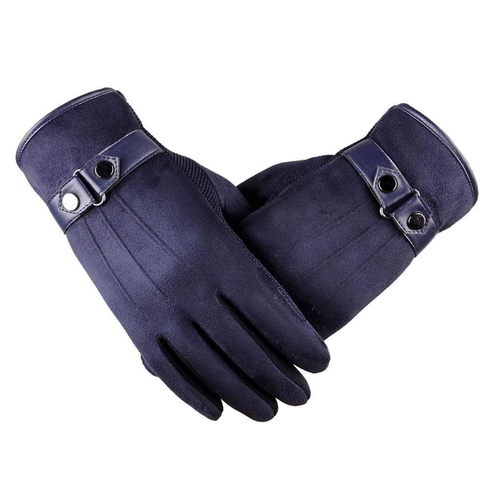 ANJUY Men's Touchscreen Gloves Suede Leather Lined Winter Warm Outdoor Driving Gloves