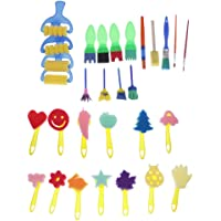 MagiDeal 30xSponge Art Painting Roller Brushes Set Niños Acuarela Paint Graffiti Drawing Toy