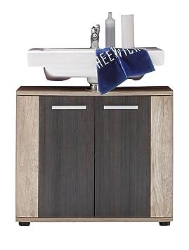 trendteam Mueble de baño base para lavabo Mueble base Star, 70 x 61 x 32