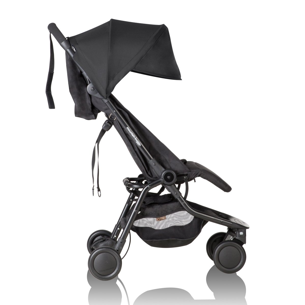 Mountain Buggy Nano Stroller, Black Bundle with Grab Bar & Food Tray - Lightweight, Easy to Assemble and Durable Compact Fold - Ideal for Family Travel by Mountain Buggy (Image #4)