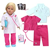 Sophia's 18 Inch Doll Doctor Outfit and Medical Accessories 10 Piece Doctor or Nurse Set with Outfit and Accessories for…