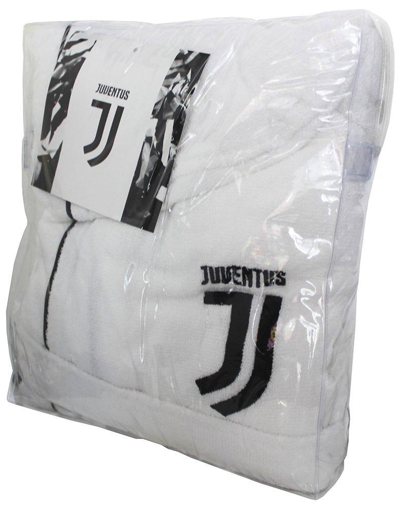NUOVO LOGO 2017/18 ACCAPPATOIO CON CAPPUCCIO UFFICIALE FC JUVENTUS ANNI 6 8 10 12 14 BIANCO NERO 100% MICRO SPUGNA PURO COTONE BIMBO BAMBINO (ANNI 6) official Juventus F.C.