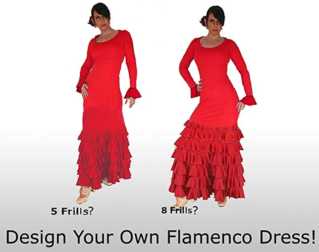 Design Your Own Long Sleeve Flamenco Dress! Express Production Time!