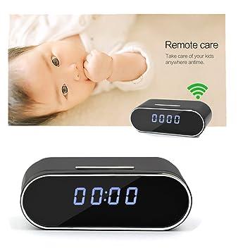 Su-luoyu WiFi Despertador 1080P Cámara de vigilancia de la niñera Video de la Seguridad