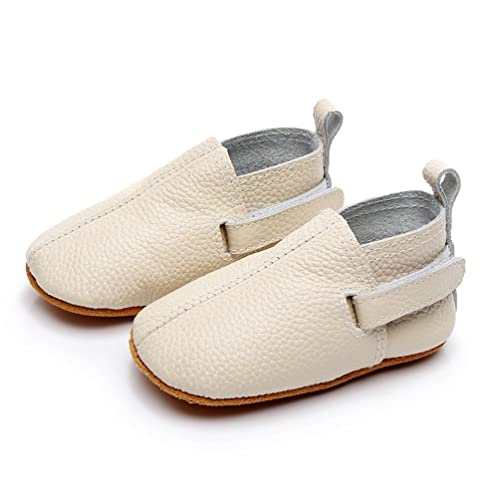 Leather Baby Shoes - Premium Soft Sole Boys and Girls Boots for Infant, Newborn,