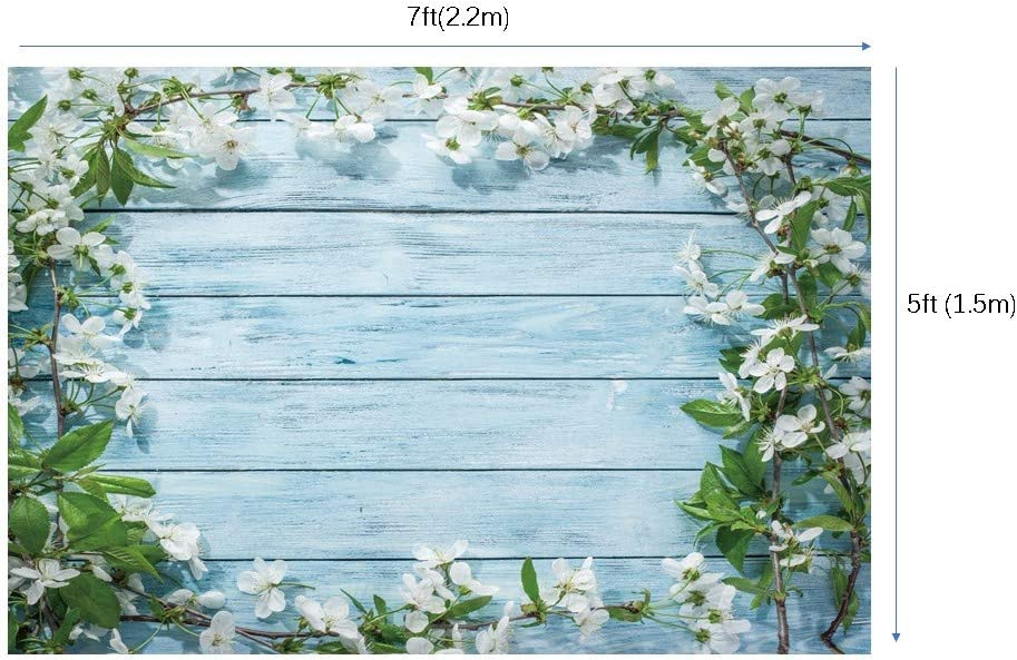 WaW Flower Wooden Wall Background Studio Backdrop Photography Newborn Baby Photo Booth Backdrop Rustic Wedding Birthday Photoshoot Props 7x5ft