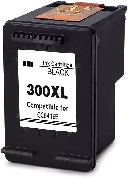 Ink_seller 300XL CC641EE (1-Pack Negro) Cartuchos de Tinta Remanufacturado para HP Deskjet D2560 D2660 D5560 F2480 F4280 F4580 Photosmart C4680: Amazon.es: Oficina y papelería
