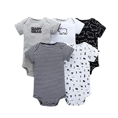 6dcd86e49abb Baby Onesies Boy Cotton Body Baby Suit Short Sleeve Baby Bodysuit Hearts Baby  Bear(3