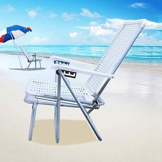 Zcyg Tumbona Tumbona Plegable reclinable al Aire Libre Jardín de plástico Blanco Tumbona de Playa Tumbona Tumbona de Gravedad Cero: Amazon.es: Hogar
