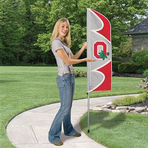 (Party Animal Ohio State Buckeyes NCAA Swooper Flag and Pole)