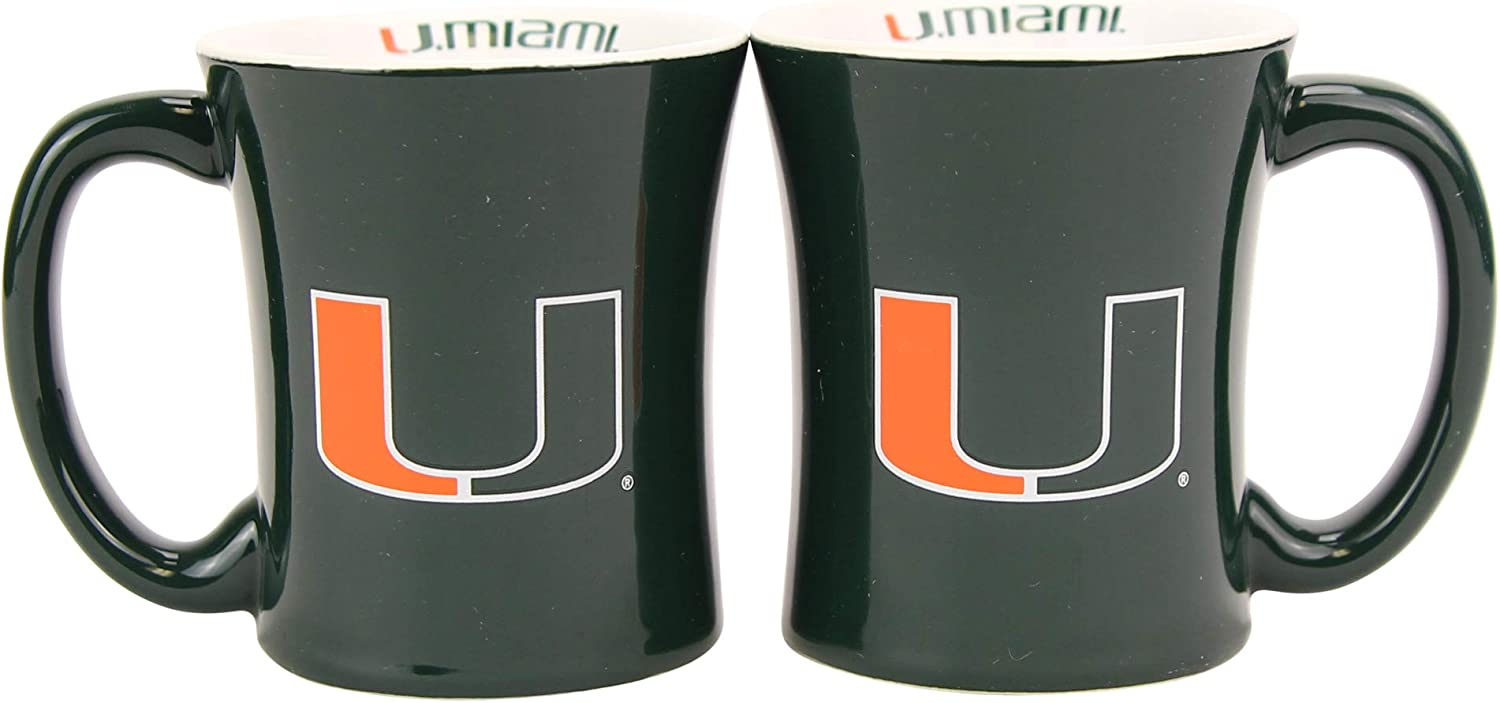 NCAA 3oz Espresso Shot Mug 2-Pack (Miami Hurricanes)