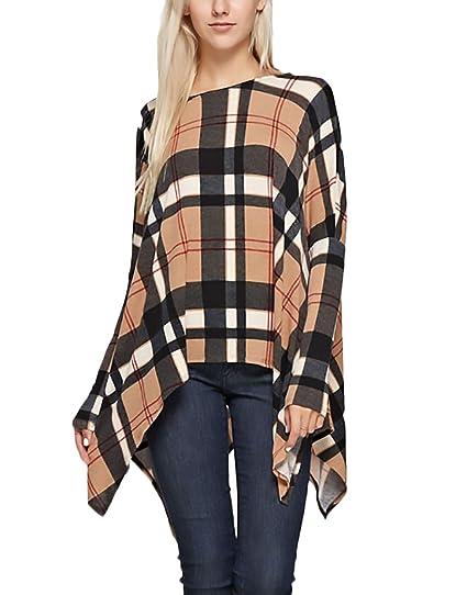 ... Vintage Tops Casuales Mujeres Invierno Otoño Anchas Cuello Redondo Asimetricas Blusas Flojo Moda T Shirt Blusones: Amazon.es: Ropa y accesorios