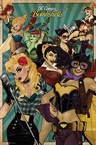 amazon com dc comics bombshells poster print wonder woman