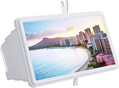 """PAWACA [Upgrade Newest 14"""" Screen Magnifier Smartphone Magnifying Glass, Cell Phone 3D HD Movie Video Amplifier with Foldable Holder Stand for All Smart Phones -Anti-Radiation"""