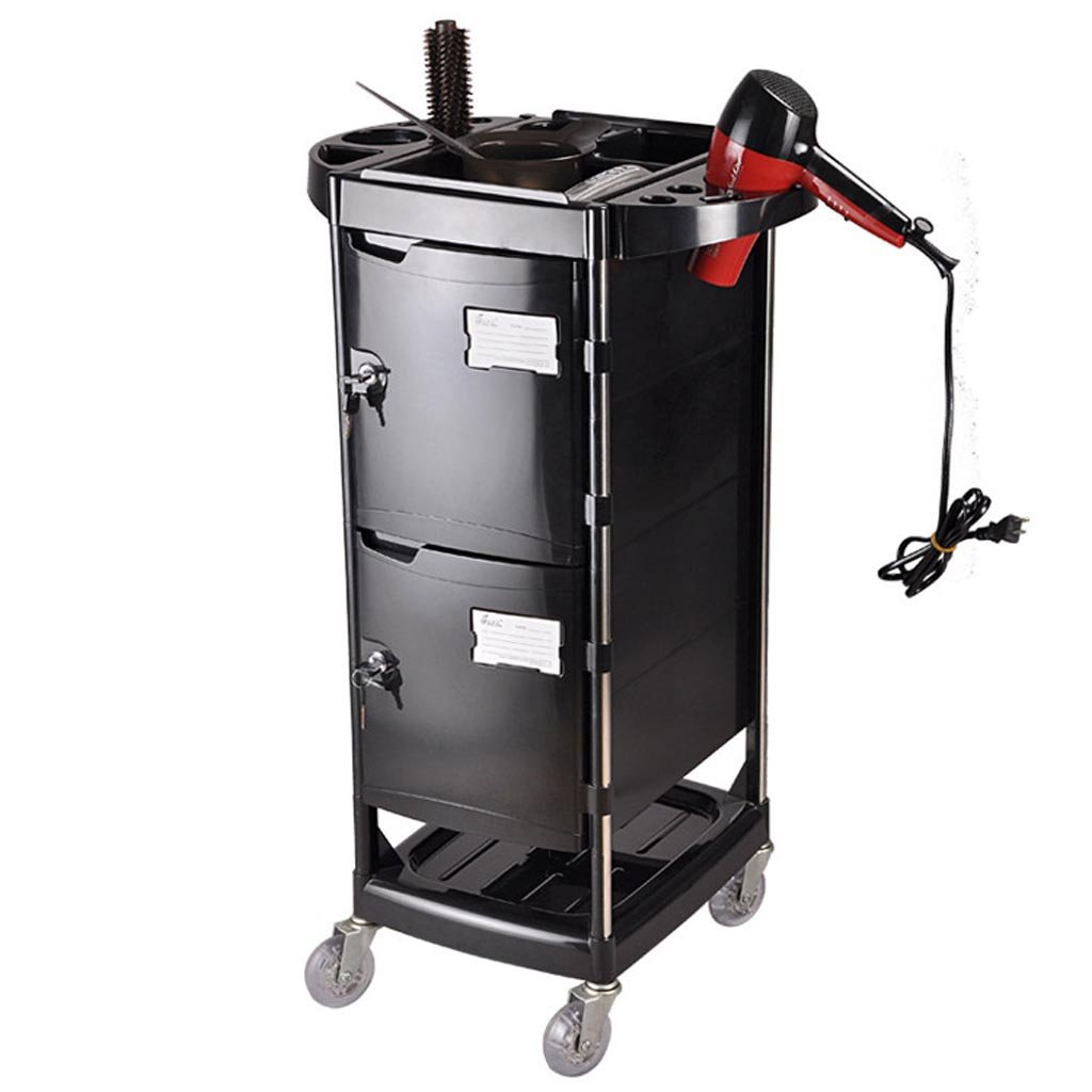 Royal@ Beauty Salon Hair Care Product with Lock Tool Cabinet, Double Door with Drawer Beauty Spa Dedicated Trolley by Beauty trolley (Image #2)