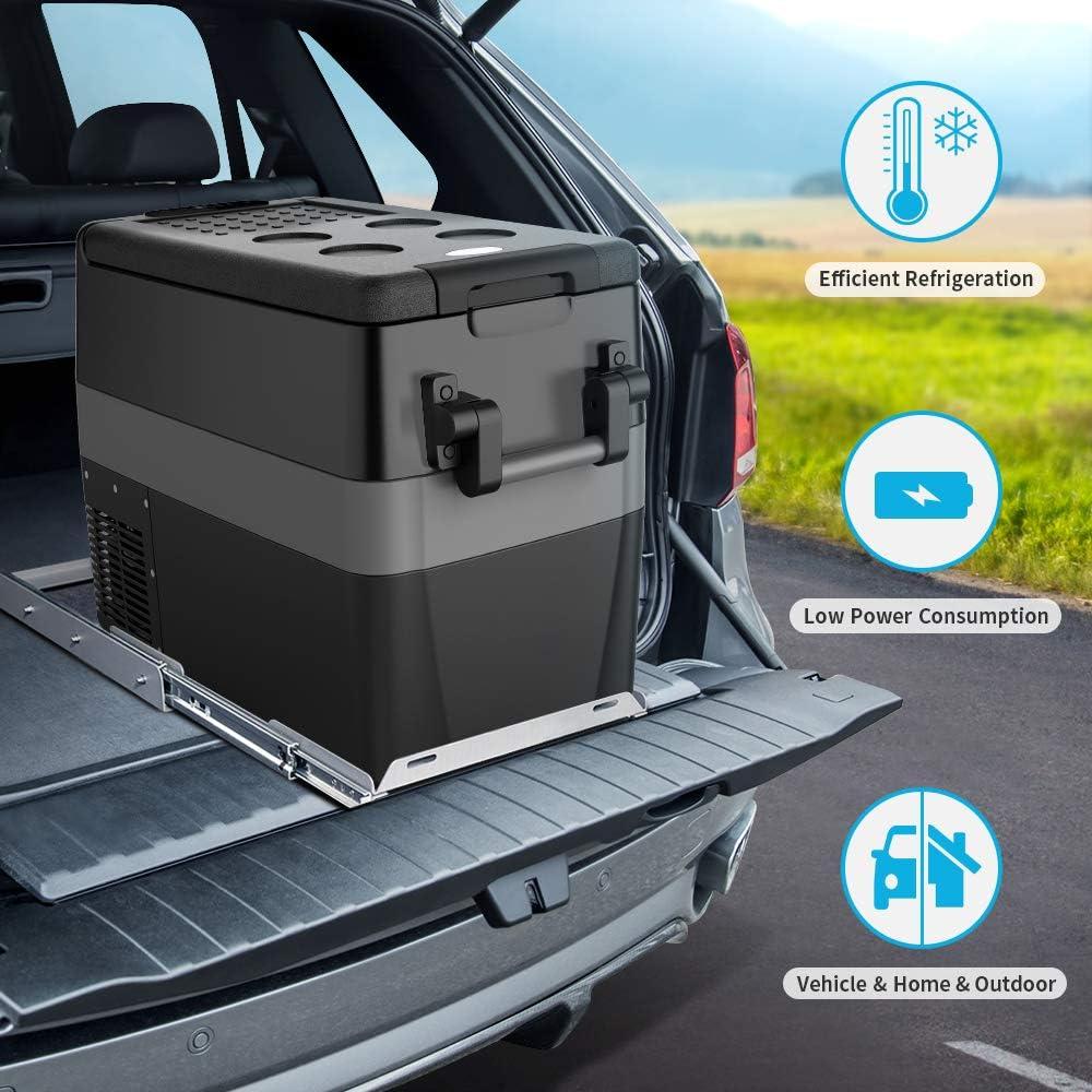 Portable Refrigerator RV Fridge -4℉~50℉ Camping Car Refridgerator Electric Compressor Car Cooler for Truck JoyTutus RV Car Freezer 42 Quart Boating 40L Road Travel and Home Use-12//24V DC