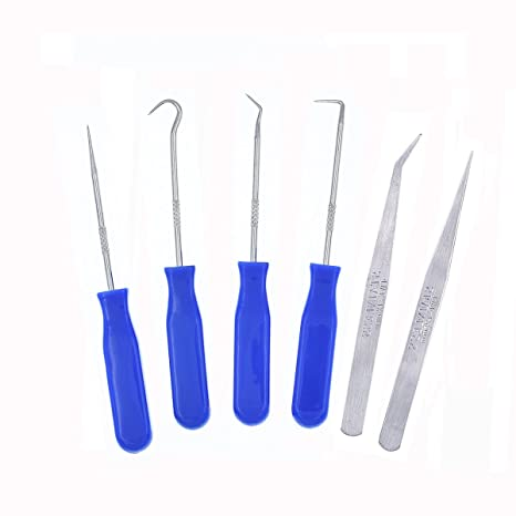 6 piezas Acero inoxidable precisión Craft vinilo Weeding ...