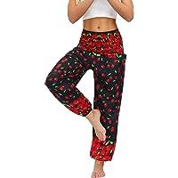 Women's Floral Print Boho Yoga Pants Harem Pants Jogger Palazzo Pants