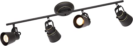 MELUCEE 4 Lights Kitchen Track Lighting Oil Rubbed Bronze, Ceiling  Spotlights Track Lighting Kit Wall Light for Kitchen Island Hallway  Gallery, 35W ...