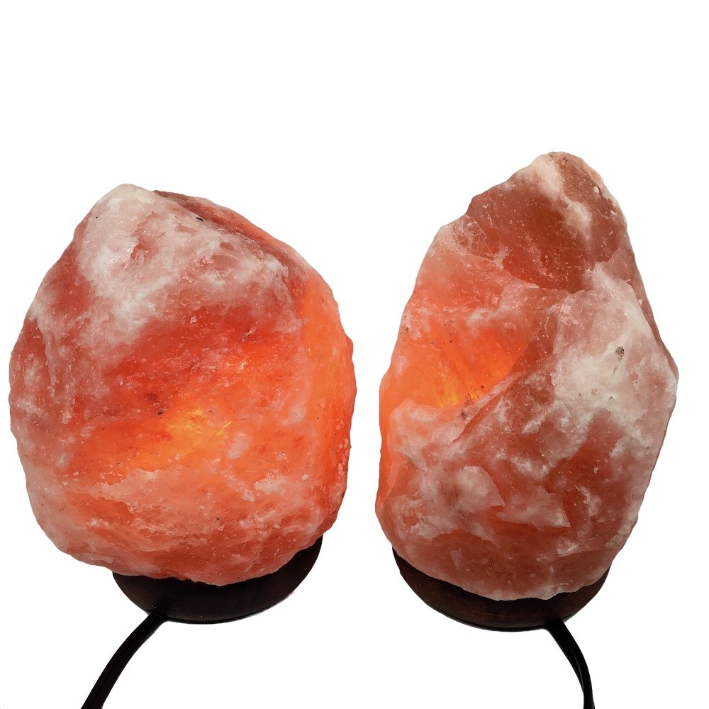 2x Himalaya Natural Handcraft Rough Raw Crystal Salt Lamp 7''-7.5''Tall, X088, Exact Item will be Delivered