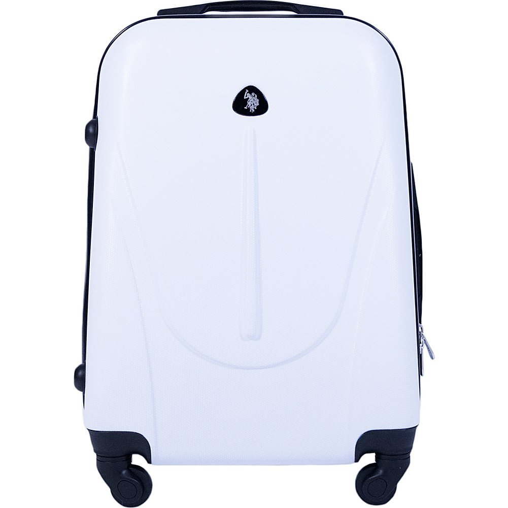 U.S. Polo Assn. 21in Carry-on Spinner, White by U.S. Polo Assn. (Image #1)